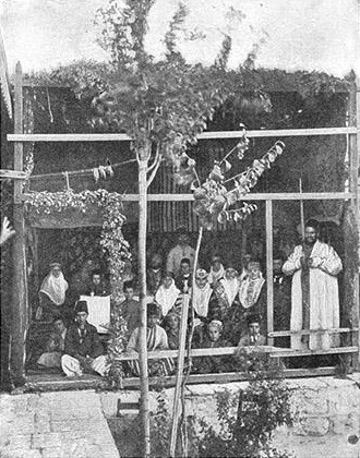 Bukharan Jews celebrating Sukkot, c. 1900