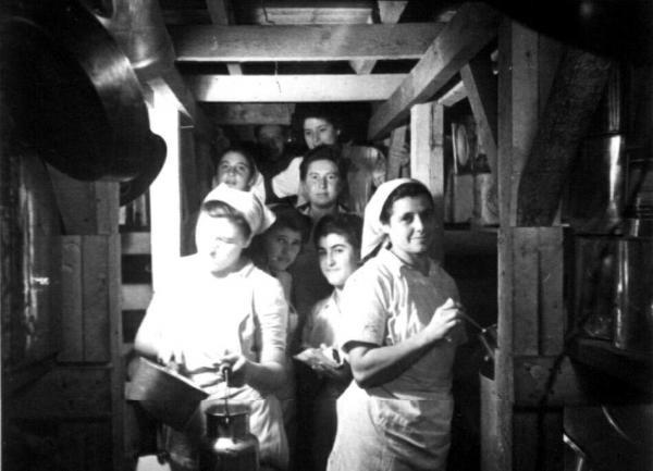 Kibbutz Gat's kitchen in an underground shelter during the Israeli War of Independence (the 1948 Arab-Israeli War)