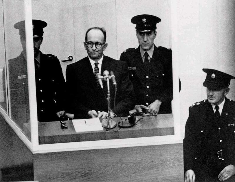 Adolf Eichmann on trial.