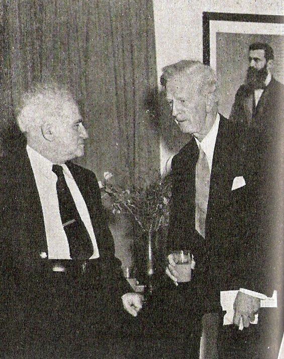 US Special Representative James McDonald meets with PM David Ben Gurion in 1948