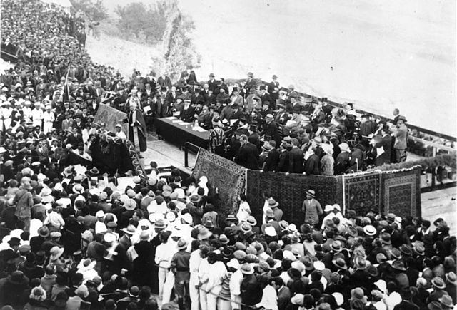 The Opening ceremony on Mount Scopus, 1925