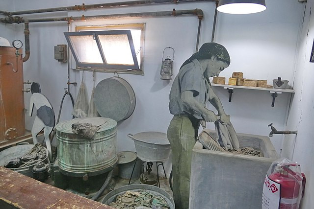 The laundry room at the Ayalon Institute which hid the entrance to an underground bullet factory.