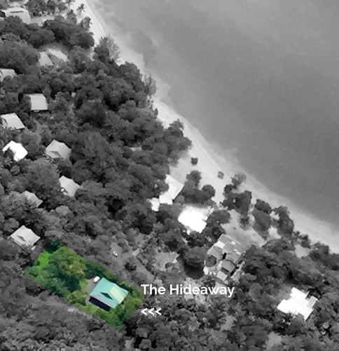 Aerial view of half acre lot