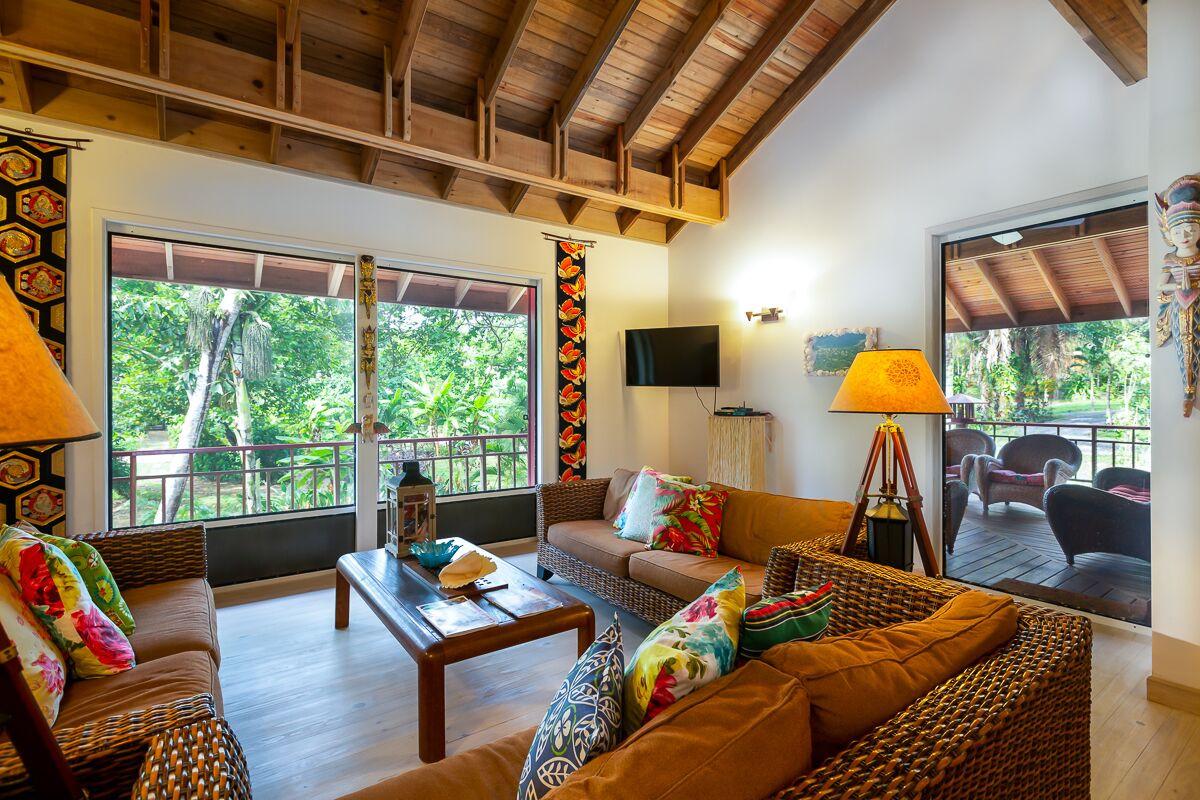 Living room facing outdoor living