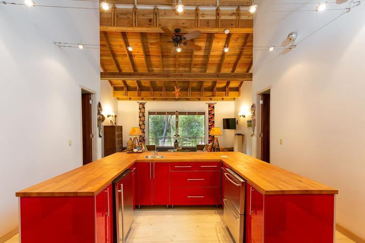 Kitchen facing north