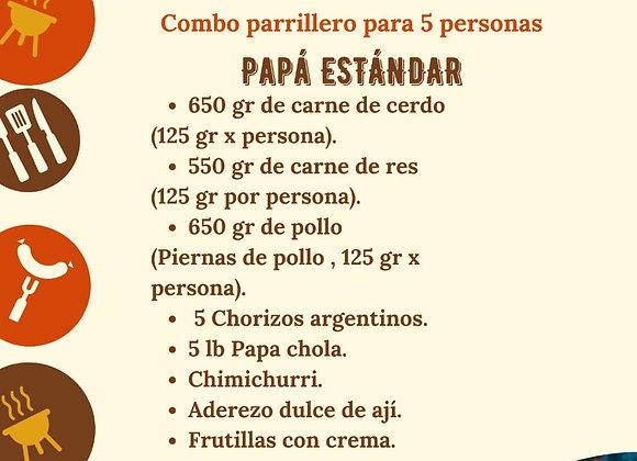 """Combo Parrillero """"Estándar"""" / 5 personas"""