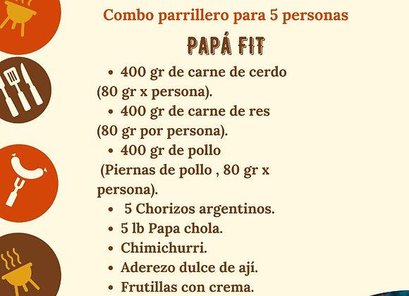 "Combo Parrillero ""Papá FIT"" / 5 personas"