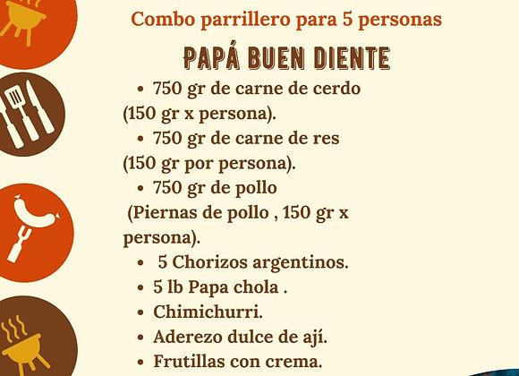 "Combo Parrillero ""Buen Diente"" / 5 personas"
