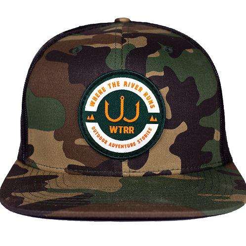WTRR Hat In Camo - Flat Bill w/ Camo WTRR Patch
