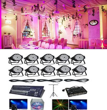 Интерьерная подсветка + световая стойка 2 RGBW головы + LED прибор