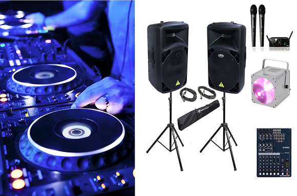 DJ + комплект звука для мероприятия на 40-60 человек