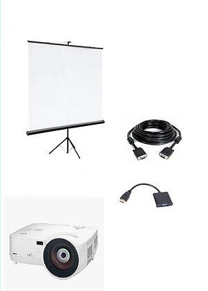 Комплект проектор короткофокусный + экран