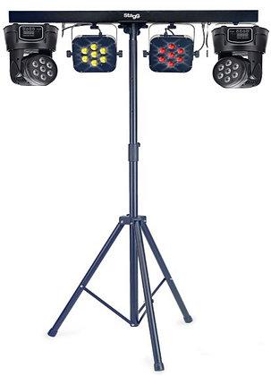Световая стойка (2 PAR RGB , Две световые головы RGB)