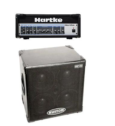 "Басовая голова Hartke HE5500(500W)+Басовый кабинет 4Х10"" KUSTOM (400W)"