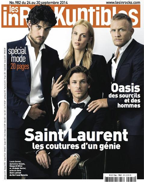 Francois Rousseau - Les Inrocks - Jeremie Renier -Louis Garrel - Aymeline Valade- Gaspard Ulliel - Storny Misericordia