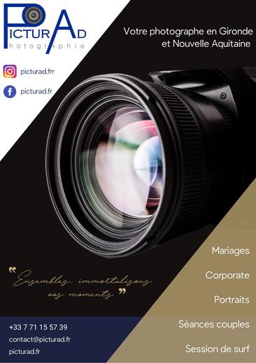 Plaquette Photographe. Collab Laugo_designer