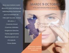 Flyer événementiel Clinique du Grand Paris