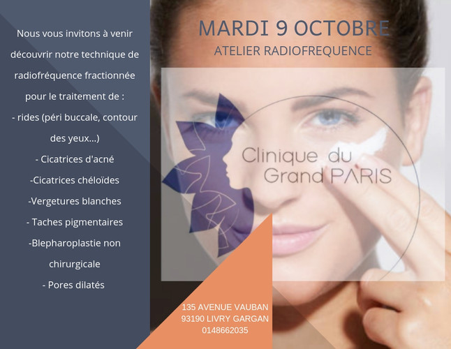 Flyer événementiel Clinique du Grand Paris