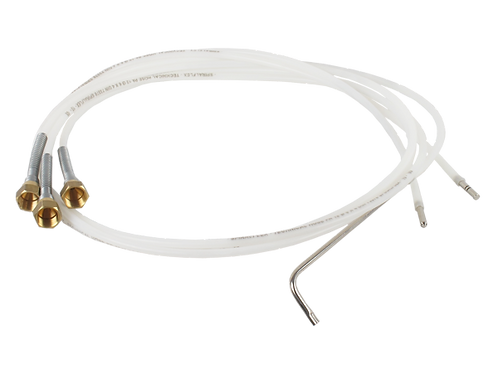 Conduit flexible en Rilsan long de 1500mm et du diamètre de 6mm, avec une buse m