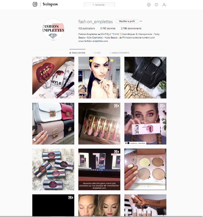 instagram Fashion Emplettes