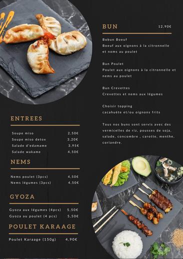 Création menu restaurant asiatique 2