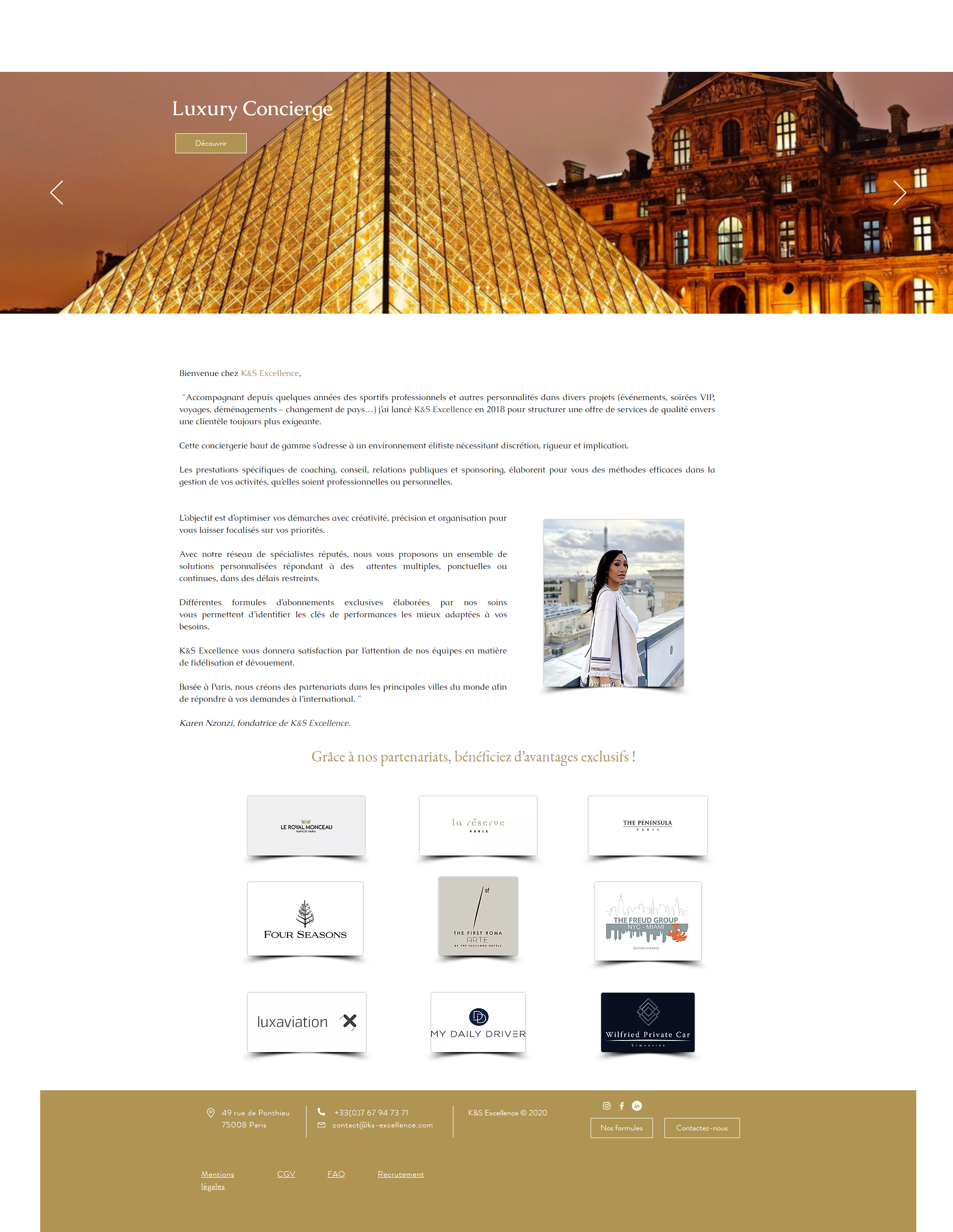 Site Conciergerie de Luxe - K&S Excellence