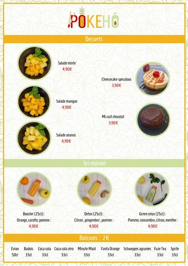 Création menu restaurant pokebowl 3