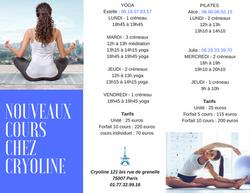 Flyer tarifs Cryoline Paris