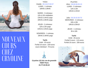Brochure Cryoline Paris
