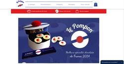 Site chocolatier Le Pompon de Brest