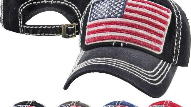 USA FLAG VINTAGE BALLCAP