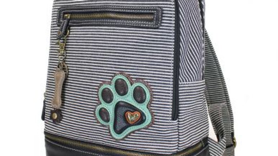 TEAL PAW PRINT - STRIPE BACKPACK