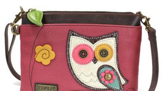 HOOHOO OWL - MINI CROSSBODY - DARK PINK