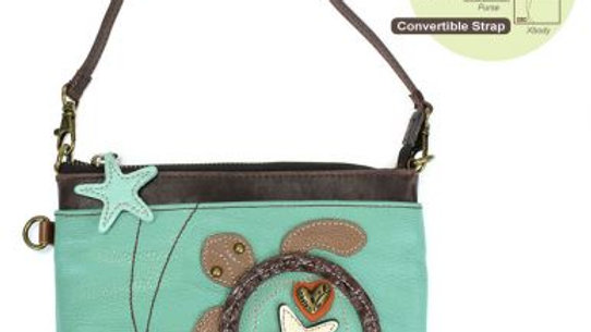 SEA TURTLE - MINI CROSSBODY -TEAL