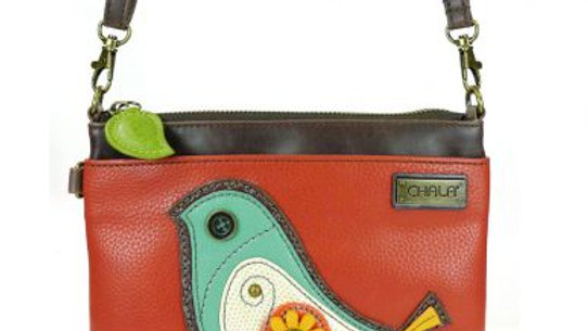 BIRD II - MINI CROSSBODY -BRICK RED