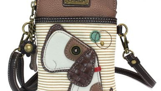 Toffey Dog on Brown Stripe Cell Phone Purse
