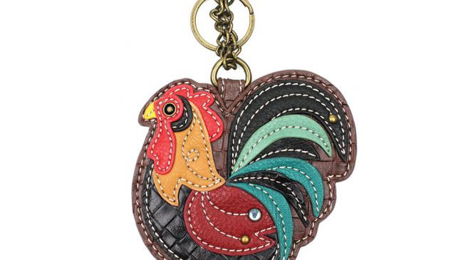 Rooster - Key Fob/Coin Purse