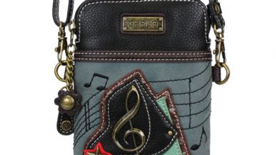 Piano on Indigo Cell Phone Purse