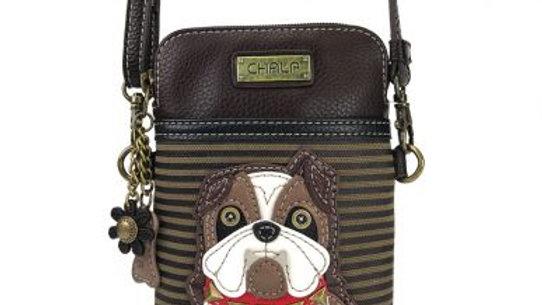 Bulldog, Brown Stripe Cellphone Purse