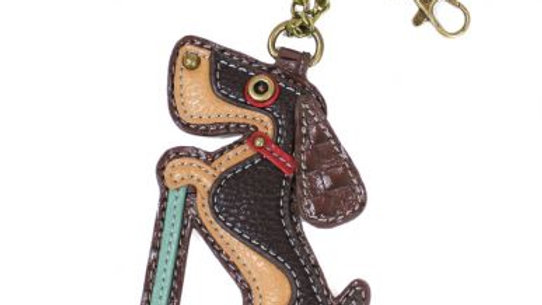 Wiener Dog Scooter - Key Fob/Purse Charm