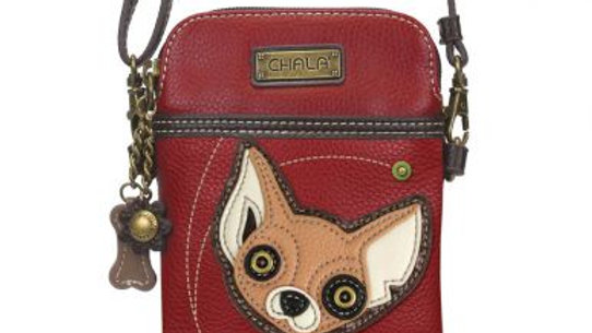 Chihuahua on Red Cell Phone Purse