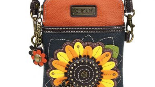 Sunflower Cellphone Crossbody Handbag
