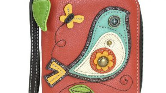 Chala Zip Around Wallet, Bird, Red (839BI2) Chala