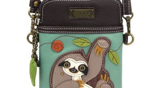 Teal Sloth Cellphone Purse