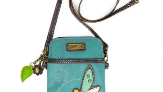 Dragonfly, Teal Cellphone Purse