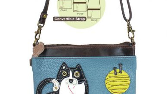 FAT CAT - MINI CROSSBODY - BLUE/GRAY