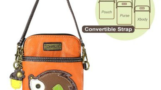 Hedgehog on Orange Cell Phone Purse