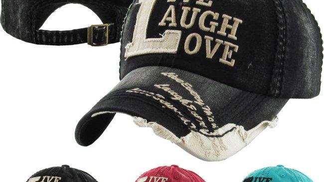 Live,Laugh,Love Vintage Ball Cap