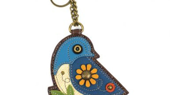 Blue Bird - Key Fob / Coin Purse