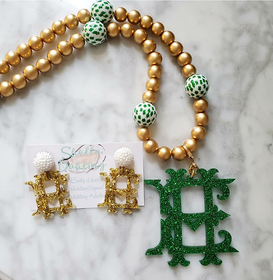 Feeling lucky  (necklace and earring set)